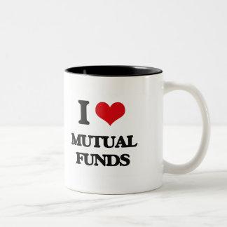I Love Mutual Funds Two-Tone Coffee Mug