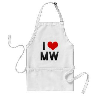 I Love MW Apron