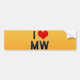 I Love MW Bumper Stickers
