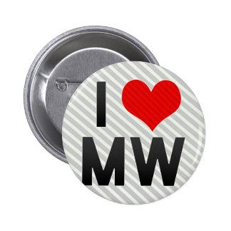 I Love MW Pinback Button