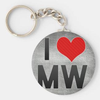 I Love MW Key Chains