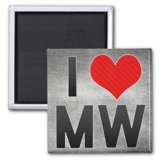 I Love MW Refrigerator Magnet