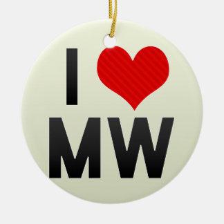 I Love MW Ornaments