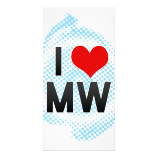 I Love MW Custom Photo Card