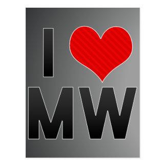 I Love MW Postcard