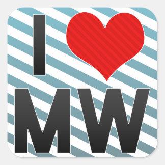 I Love MW Sticker