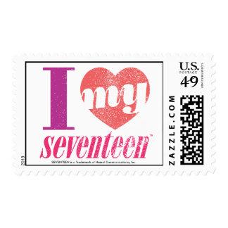 I Love My 17 Pink Stamp