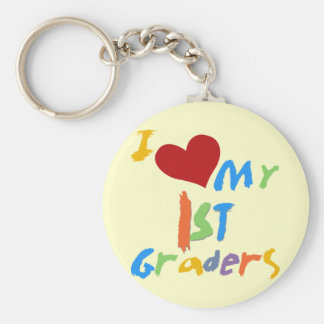 I Love My 1st Graders Tshirts and Gifts Keychain