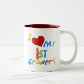 I Love My 1st Graders Tshirts and Gifts Two-Tone Coffee Mug