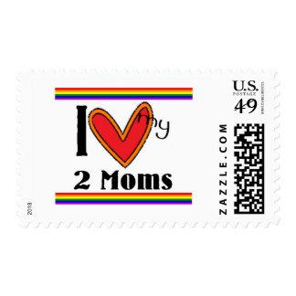 I love my 2 moms postage