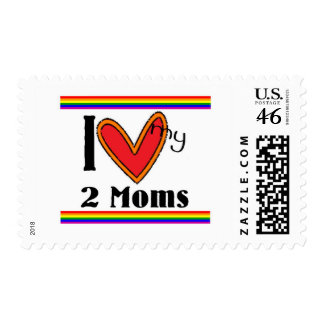 I love my 2 moms stamps