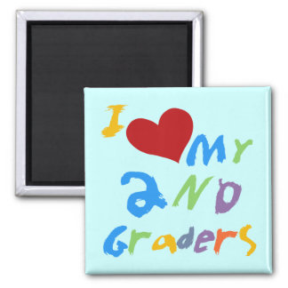 I Love My 2nd Graders Tshirts and Gifts 2 Inch Square Magnet