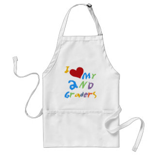 I Love My 2nd Graders Tshirts and Gifts Adult Apron