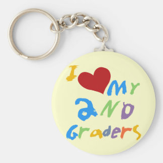 I Love My 2nd Graders Tshirts and Gifts Keychain