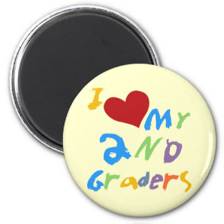 I Love My 2nd Graders Tshirts and Gifts 2 Inch Round Magnet