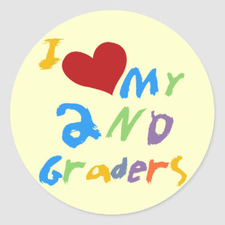I Love My 2nd Graders Tshirts and Gifts Classic Round Sticker