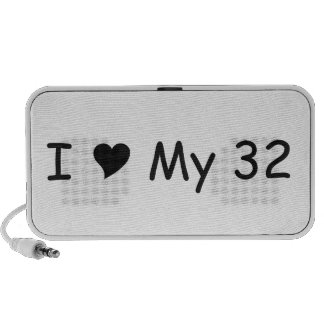 I Love My 32 I Love My Gifts By Gear4gearheads Portable Speaker