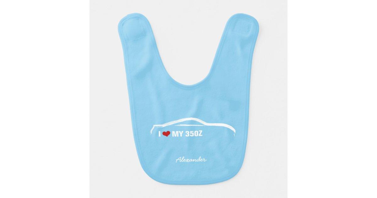 I Love My 350z Baby Blue Bib Zazzlecom