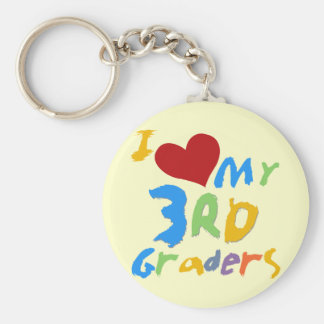I Love My 3rd Graders Tshirts and Gifts Keychain