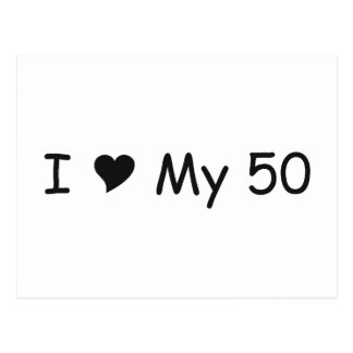 I Love My 50I Love My Gifts By Gear4gearheads Postcard