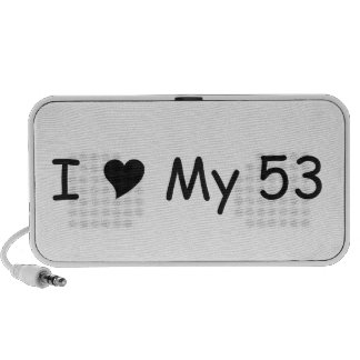 I Love My 53 I Love My Gifts By Gear4gearheads Portable Speaker