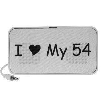 I Love My 54 I Love My Car T-shirt By Gear4gearhea Mini Speaker