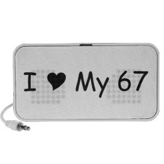 I love My 67 I Love My Gifts By Gear4gearheads Portable Speaker
