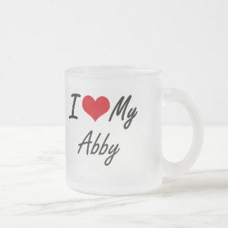 I love my Abby 10 Oz Frosted Glass Coffee Mug