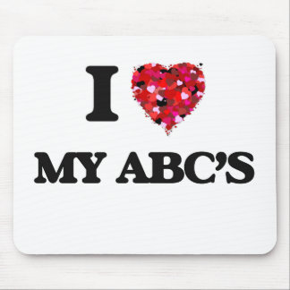 I Love My Abc'S Mouse Pad