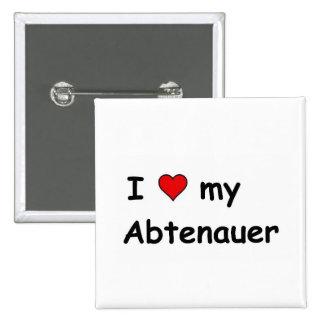 I Love My Abtenauer 2 Inch Square Button