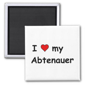 I Love My Abtenauer 2 Inch Square Magnet