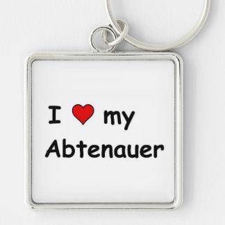 I Love My Abtenauer Silver-Colored Square Keychain