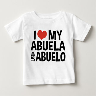 I Love My Abuela and Abuelo Shirt