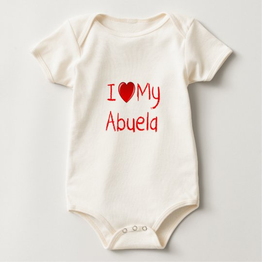 I Love My Abuela Infant and Toddler T-Shirt