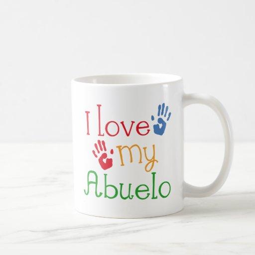 I Love My Abuelo (Handprints) Coffee Mug Zazzle