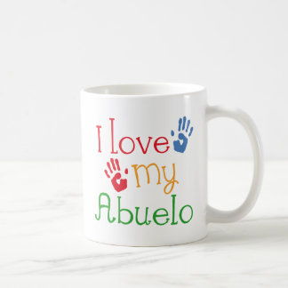 I Love My Abuelo (Handprints) Classic White Coffee Mug