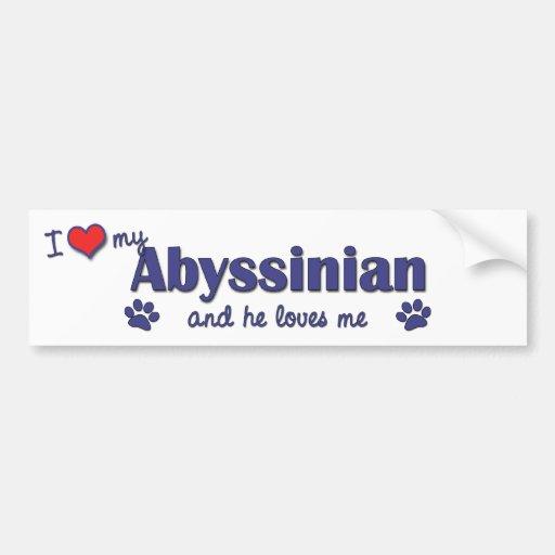 I Love My Abyssinian (Male Cat) Bumper Stickers