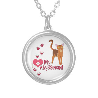 I Love My Abyssinian! Silver Plated Necklace
