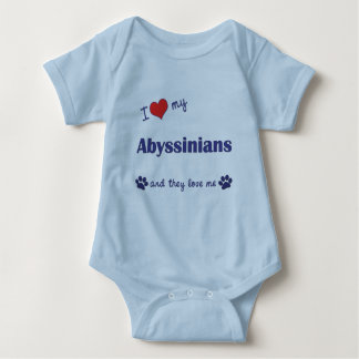 I Love My Abyssinians (Multiple Cats) Baby Bodysuit