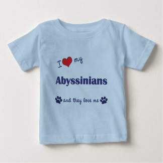 I Love My Abyssinians (Multiple Cats) Baby T-Shirt
