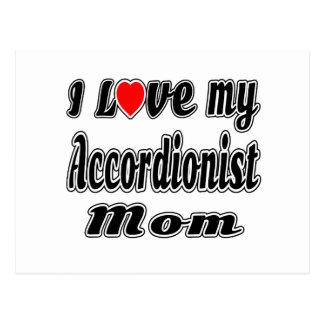 I Love My Accordionist Mom Postcard