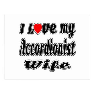 I love my Accordionist  wife Postcard