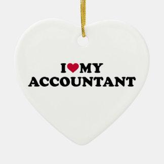 I love my accountant ceramic ornament