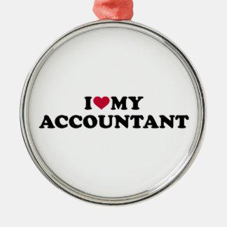 I love my accountant metal ornament