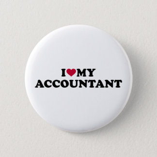 I love my accountant pinback button
