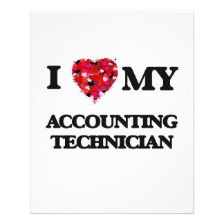 "I love my Accounting Technician 4.5"" X 5.6"" Flyer"