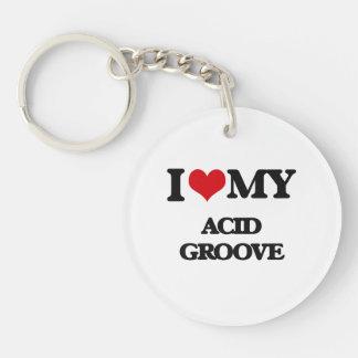 I Love My ACID GROOVE Key Chains