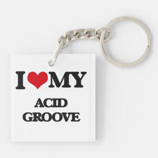 I Love My ACID GROOVE Acrylic Key Chain