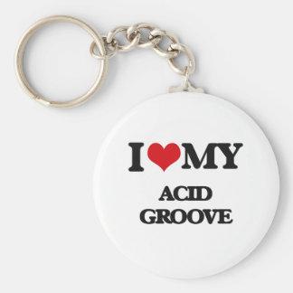 I Love My ACID GROOVE Keychain
