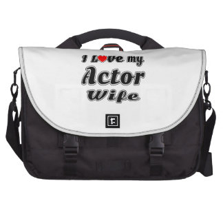 I love my Actor  wife Laptop Bag